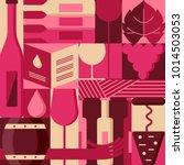 vector flat geometric design... | Shutterstock .eps vector #1014503053