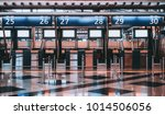 front view of check in area in... | Shutterstock . vector #1014506056