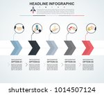 abstract infographics number... | Shutterstock .eps vector #1014507124