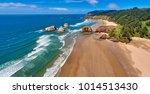 Aerial panorama shot at...