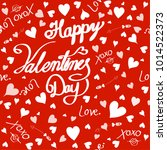 happy valentines day for... | Shutterstock .eps vector #1014522373