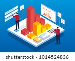 isometric data plan | Shutterstock .eps vector #1014524836