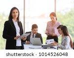 graceful business woman in...   Shutterstock . vector #1014526048