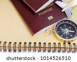 passports on the floor ... | Shutterstock . vector #1014526510