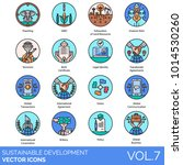 sustainable development flat... | Shutterstock .eps vector #1014530260