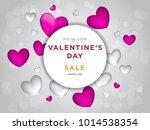 valentines day sale background...   Shutterstock .eps vector #1014538354