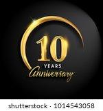 10 years anniversary... | Shutterstock .eps vector #1014543058