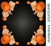 orange  mandarin  tangerine...   Shutterstock . vector #1014551998
