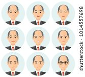 business man flat avatars set... | Shutterstock .eps vector #1014557698