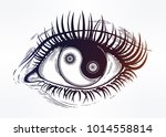 beautiful realistic eye of a... | Shutterstock .eps vector #1014558814