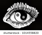 beautiful realistic eye of a... | Shutterstock .eps vector #1014558820