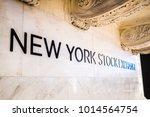 new york stock exchange  new... | Shutterstock . vector #1014564754
