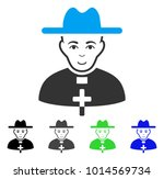 gladness catholic priest vector ... | Shutterstock .eps vector #1014569734