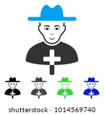 glad catholic priest vector... | Shutterstock .eps vector #1014569740