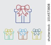 gift box color line icon | Shutterstock .eps vector #1014573808