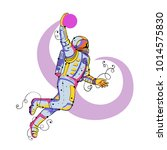 doodle art illustration of an... | Shutterstock . vector #1014575830