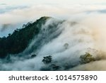 sea of fog moving across the...   Shutterstock . vector #1014575890