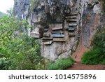 the hanging coffins of sagada ...   Shutterstock . vector #1014575896