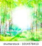 watercolor illustration  dark ... | Shutterstock . vector #1014578413