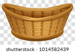 empty wicker basket for flowers.... | Shutterstock .eps vector #1014582439