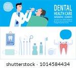 male dentist medical treatment... | Shutterstock .eps vector #1014584434