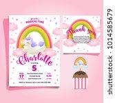unicorn  little pony theme... | Shutterstock .eps vector #1014585679