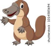 cartoon platypus isolated on... | Shutterstock .eps vector #1014585694