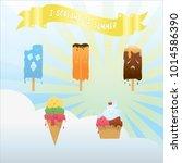 i scream for summer | Shutterstock .eps vector #1014586390