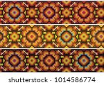 floral pattern   mexican design | Shutterstock .eps vector #1014586774
