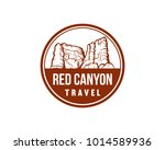 red canyon travel illustration... | Shutterstock .eps vector #1014589936