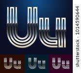 vector reflective abstract... | Shutterstock .eps vector #1014590644