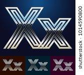 vector reflective abstract... | Shutterstock .eps vector #1014590800