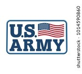 us army emblem. flag of america.... | Shutterstock . vector #1014590860