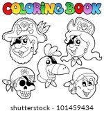 coloring book with pirate topic ... | Shutterstock .eps vector #101459434
