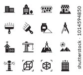 solid black vector icon set  ... | Shutterstock .eps vector #1014594850