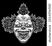 scary clown head concept of... | Shutterstock .eps vector #1014596500