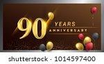 90 years anniversary...   Shutterstock .eps vector #1014597400