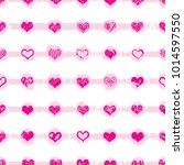heart shapes seamless pattern... | Shutterstock .eps vector #1014597550