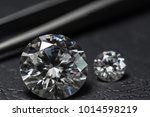 round cut diamond. moissanite... | Shutterstock . vector #1014598219