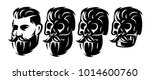vector style set with male head ... | Shutterstock .eps vector #1014600760
