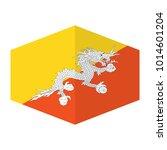 flag of bhutan vector... | Shutterstock .eps vector #1014601204