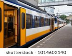 Yellow Dutch Train On The...
