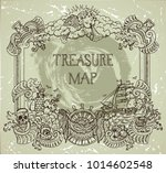 hand drawn decorative frame... | Shutterstock .eps vector #1014602548