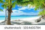 summer beach palm trees | Shutterstock . vector #1014603784
