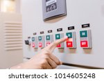 engineer is check electrical... | Shutterstock . vector #1014605248