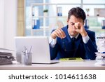tired businessman exhausted...   Shutterstock . vector #1014611638