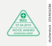 rio de janeiro passport stamp.... | Shutterstock .eps vector #1014616186