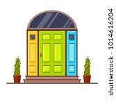 yellow  green and blue modern... | Shutterstock .eps vector #1014616204