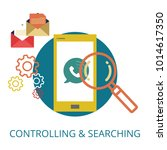 controlling   searching concept   Shutterstock .eps vector #1014617350
