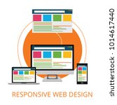 responsive web design concept | Shutterstock .eps vector #1014617440